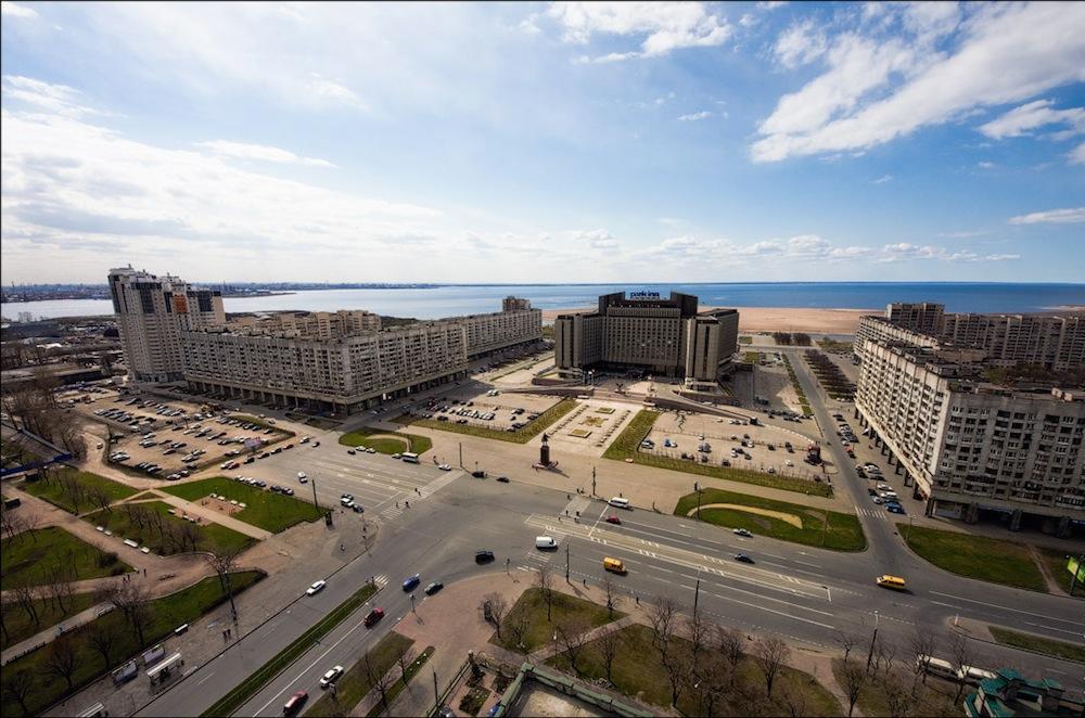 Pribaltiiskaya Square and Park Inn Hotel