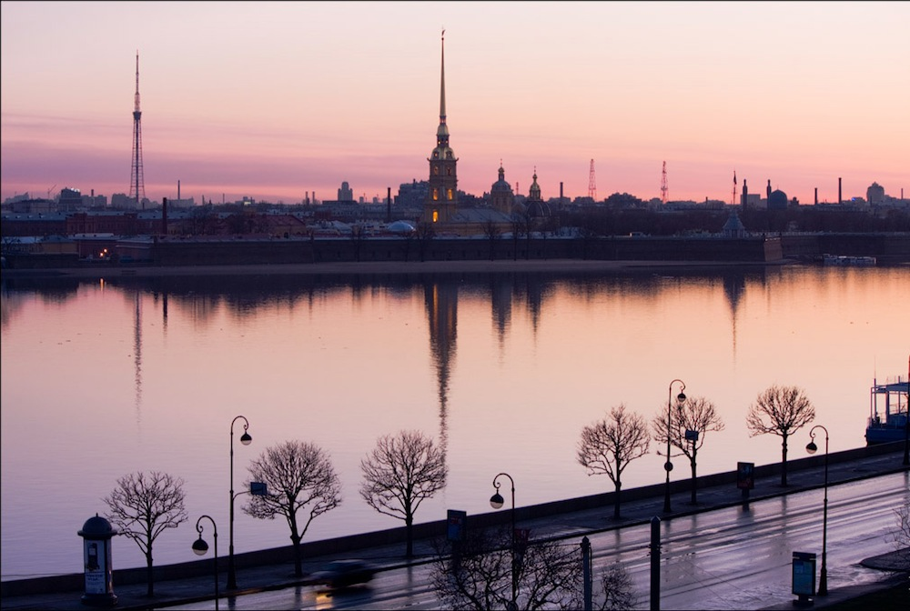 The Peter and Paul Fortress and the Palace Embankment
