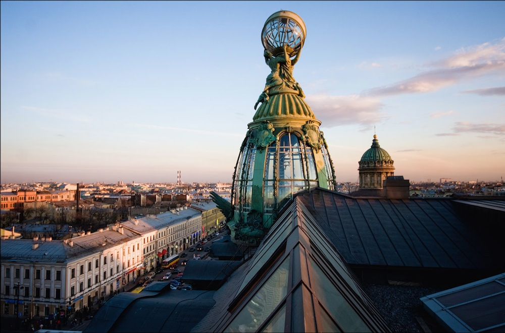 Dome of the Zinger company house (known as the Book House)