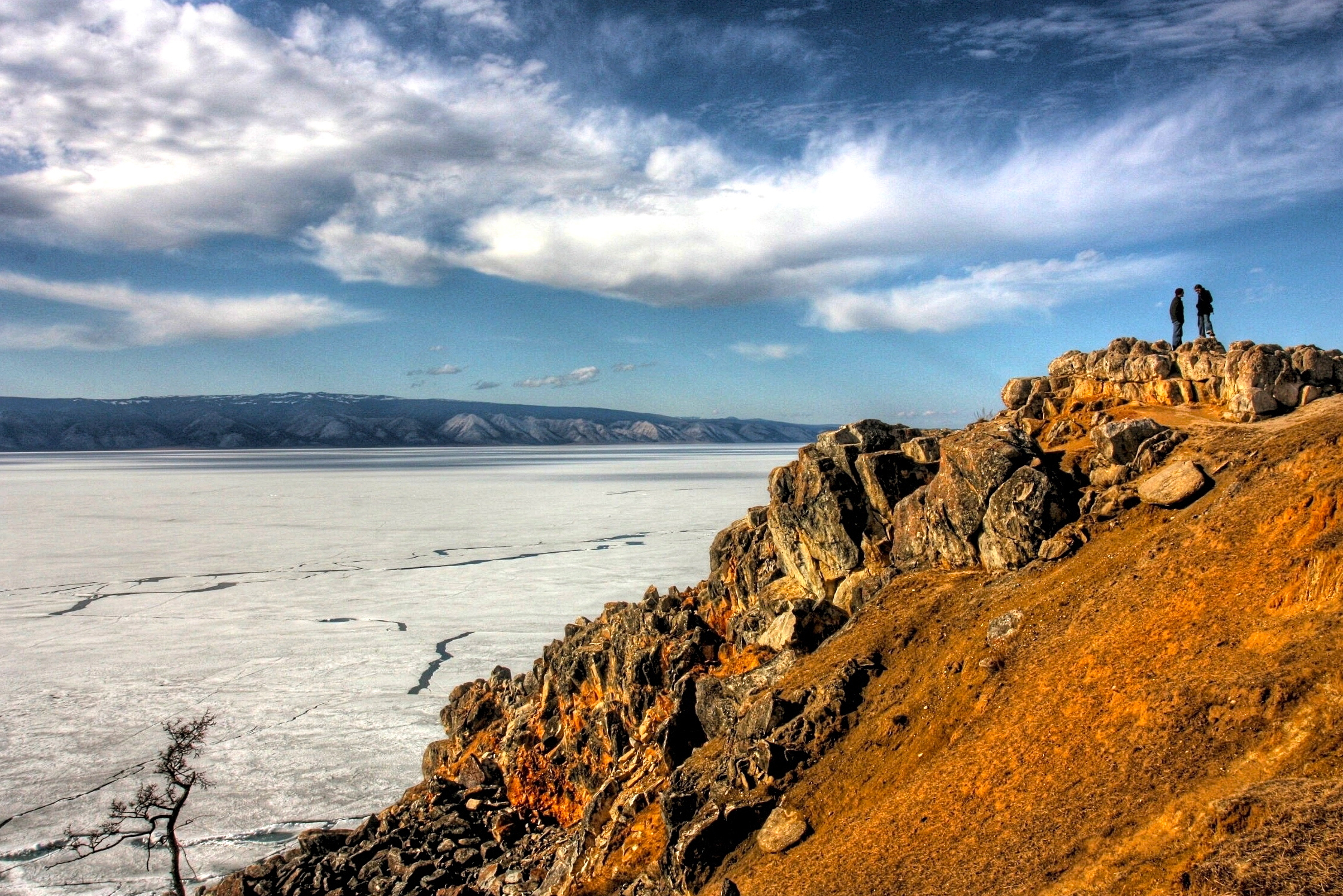 Olkhon is the largest island in Lake Baikal and the third-largest lake-bound island in the world.
