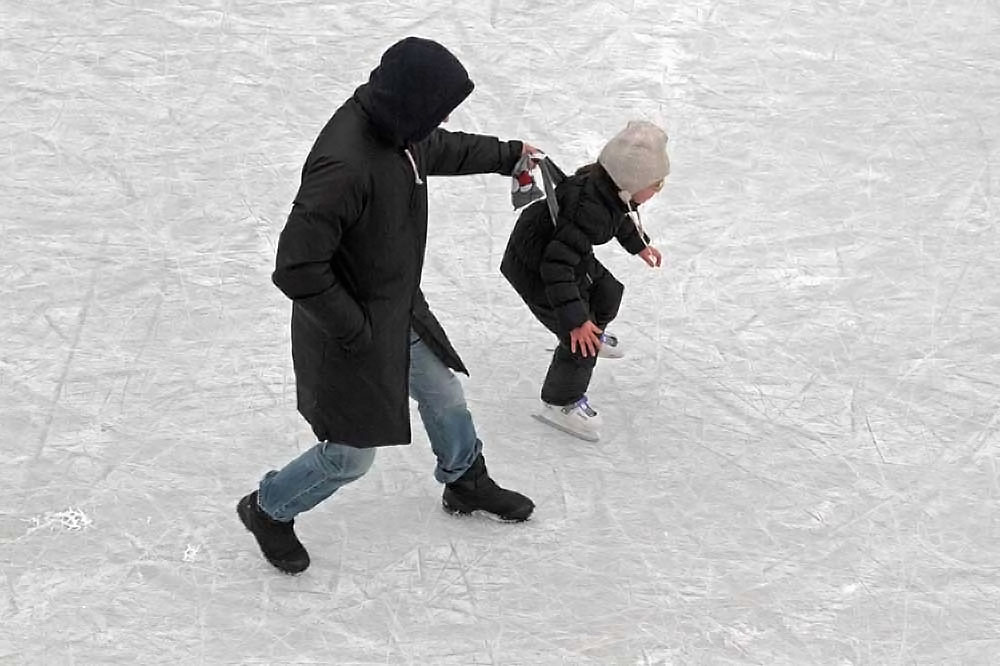 Ice skating is one of the most popular form of winter entertainment in Russia.