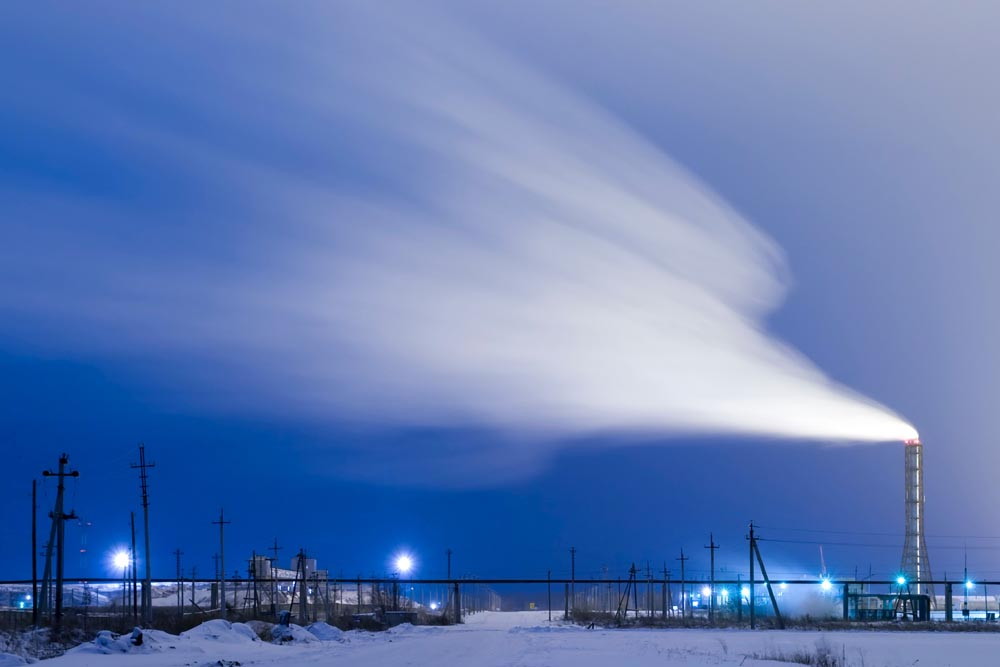 A thermal power plant in the north of Russia.