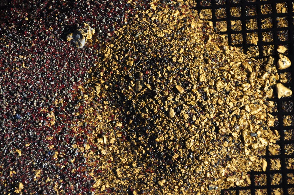 To get 1 gram of gold dust, you need to wash one ton of rock.