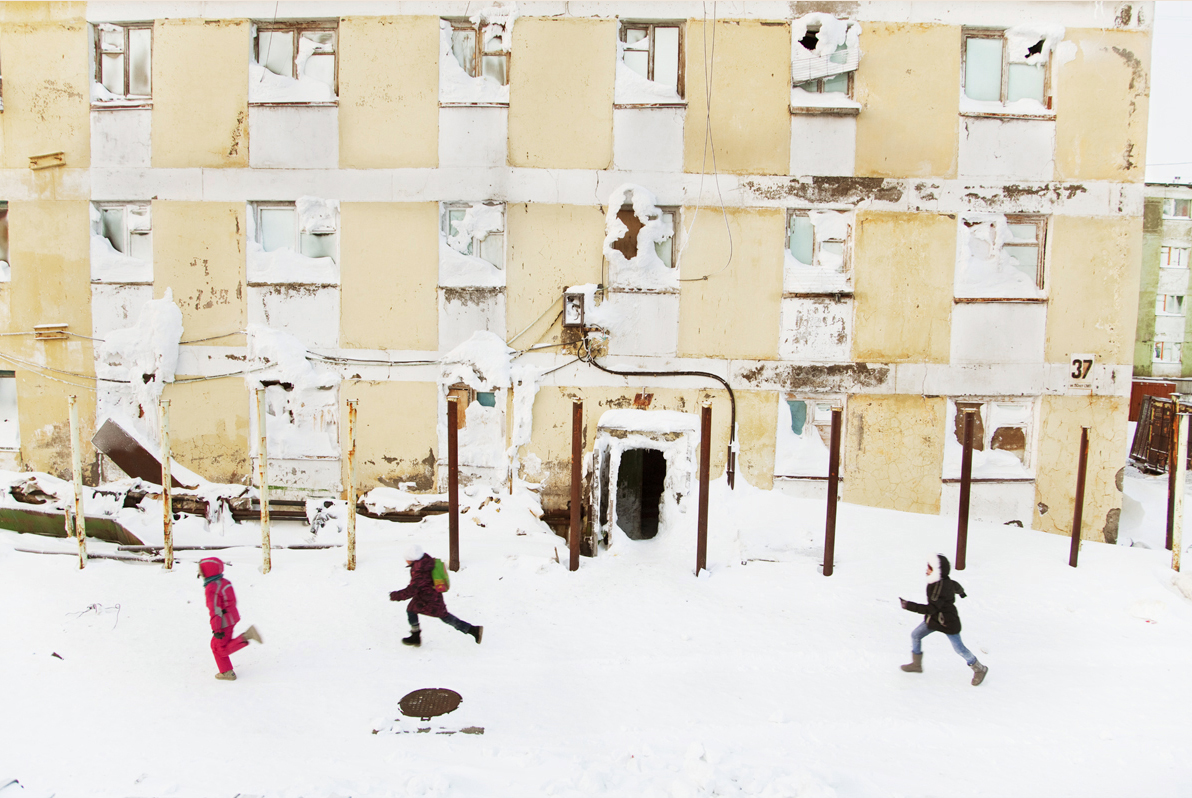 After the fall of the USSR government stopped financing it's Northern projects and many little towns were left to their own survival.