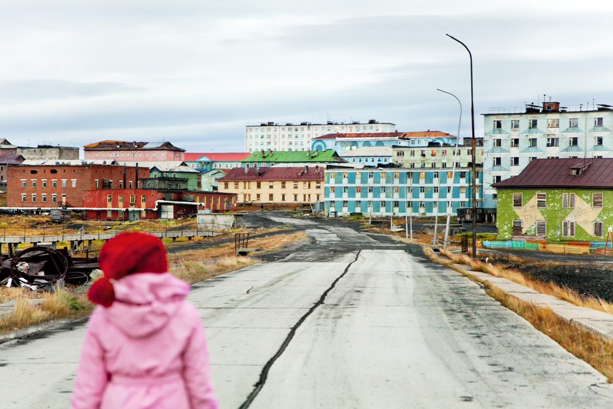 """""""Last winter and fall for the first time in 18 years I went back to Tiksi. The scenery was still there, but the town was nearly abandoned."""" - Evgenia Arbugaeva"""