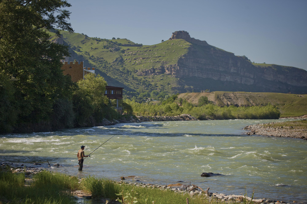 Fishing in the rough rivers of the Caucasus