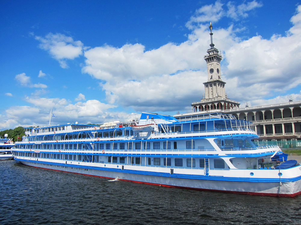 Moscow's North River Terminal is the starting point for cruises on the Volga.