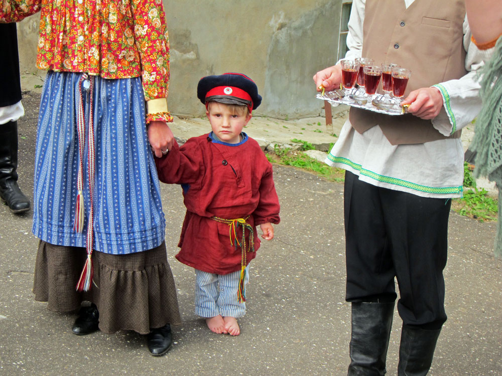 Even youngsters are recruited to the task of reconstructing old Russia.