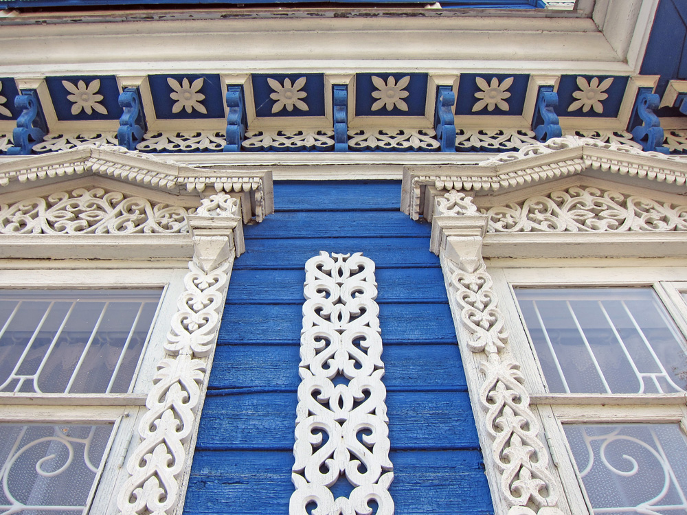 Russia's artistic heritage is displayed through beautifully crafted buildings.