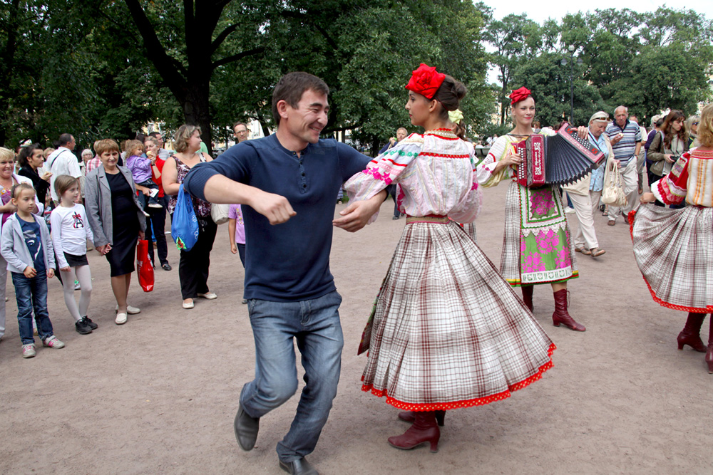 Russians conclude the spiritual occasion with a fair, singing and dancing.Saint Petersburg