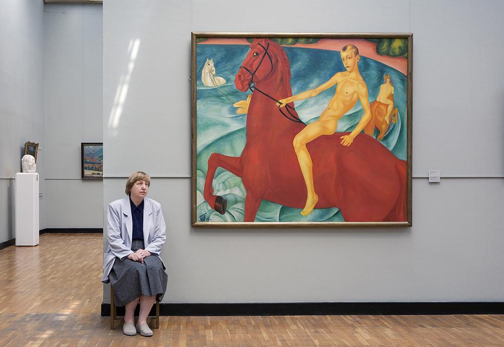 """""""Il bagno del cavallo rosso"""", Kuzma Petrov-Vodkin, Galleria Statale Tretjakov"""