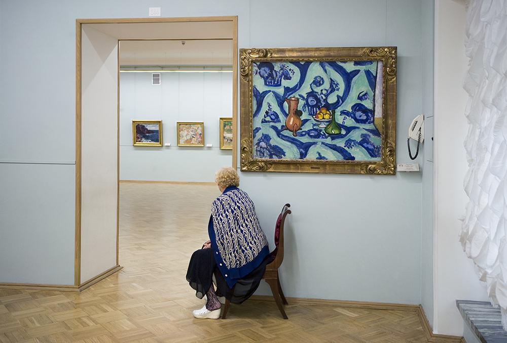 """""""Natura morta con tovaglia blu"""", Henry Matisse, Museo dell'Hermitage"""