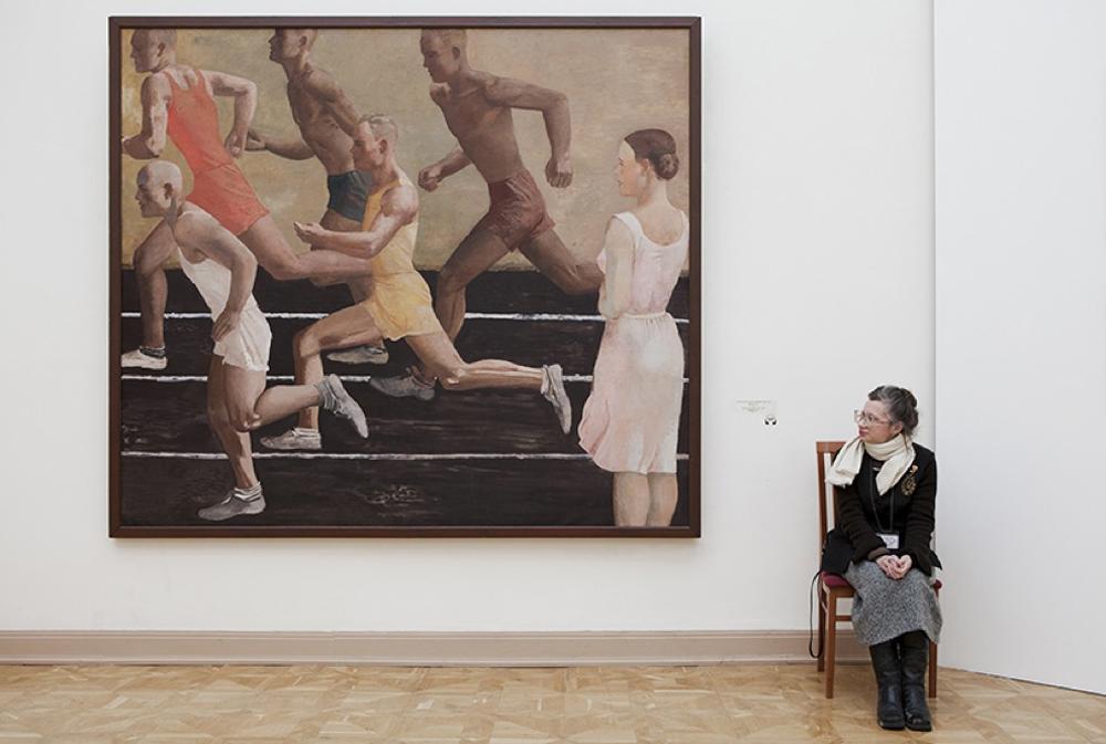 """""""Corsa"""", Aleksandr Deineka, Museo di Stato Russo"""