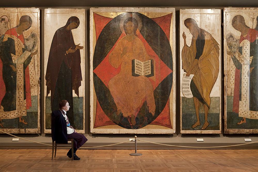 """Deesis"", Andrei Rublev e Daniil Cherny, Galleria Statale Tretjakov"
