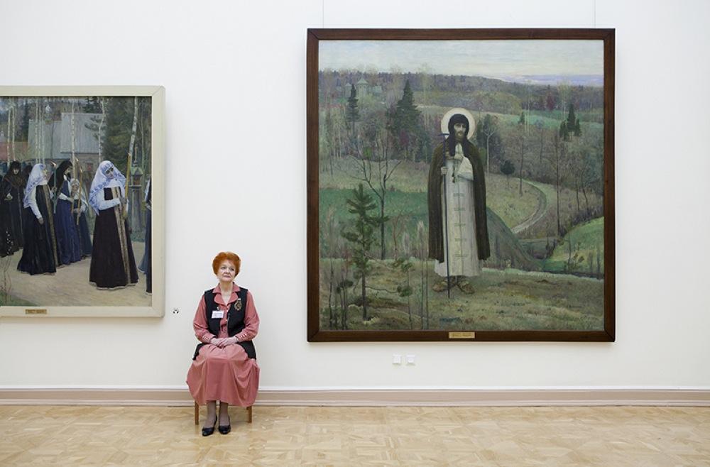 """""""San Sergio"""", Mikhail Nesterov, Museo di Stato Russo"""