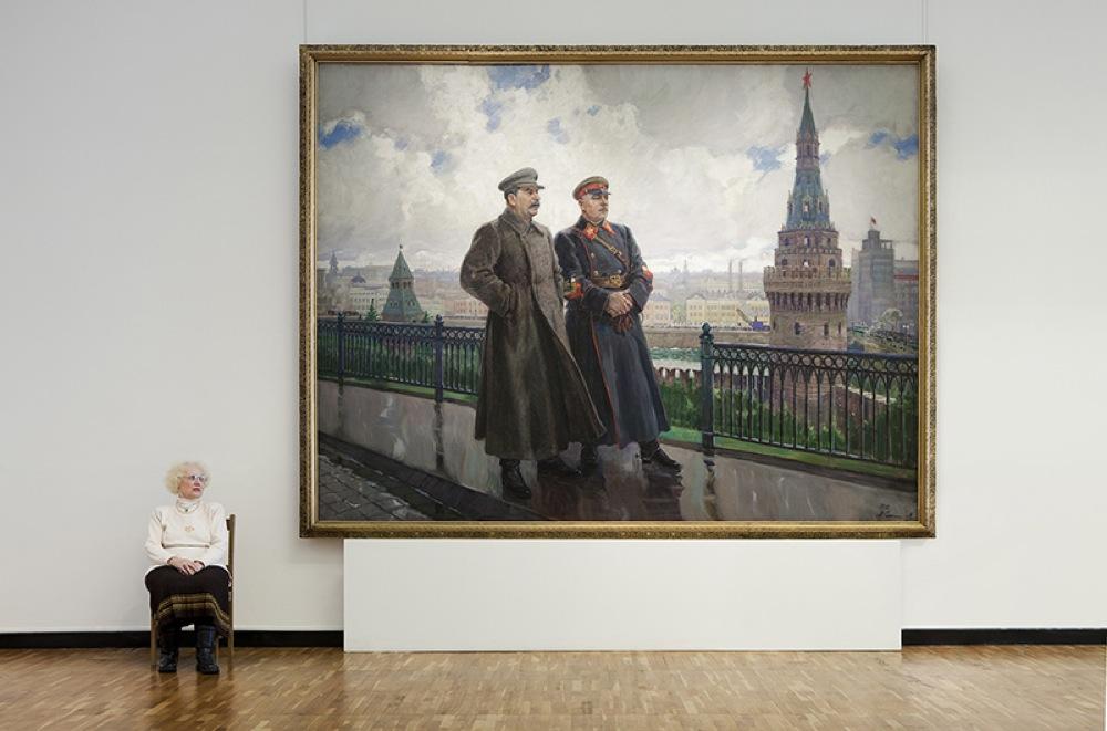 """""""Stalin e Voroshilov al Cremlino"""", Aleksandr Gerasimov, Galleria Statale Tretjakov"""