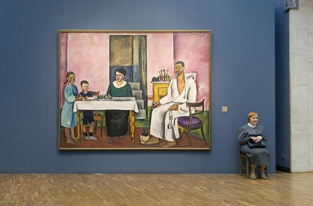 """""""Autoritratto con famiglia"""", Petr Konchalovsky, Galleria Statale Tretjakov"""