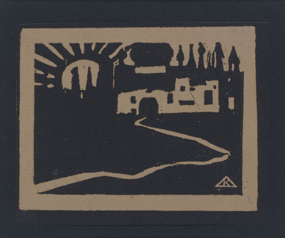 """""""Xilografia della serie Poesie senza Parole"""" (1903), Vasily Kandinsky, Art Camù Collezioni d'Arte"""