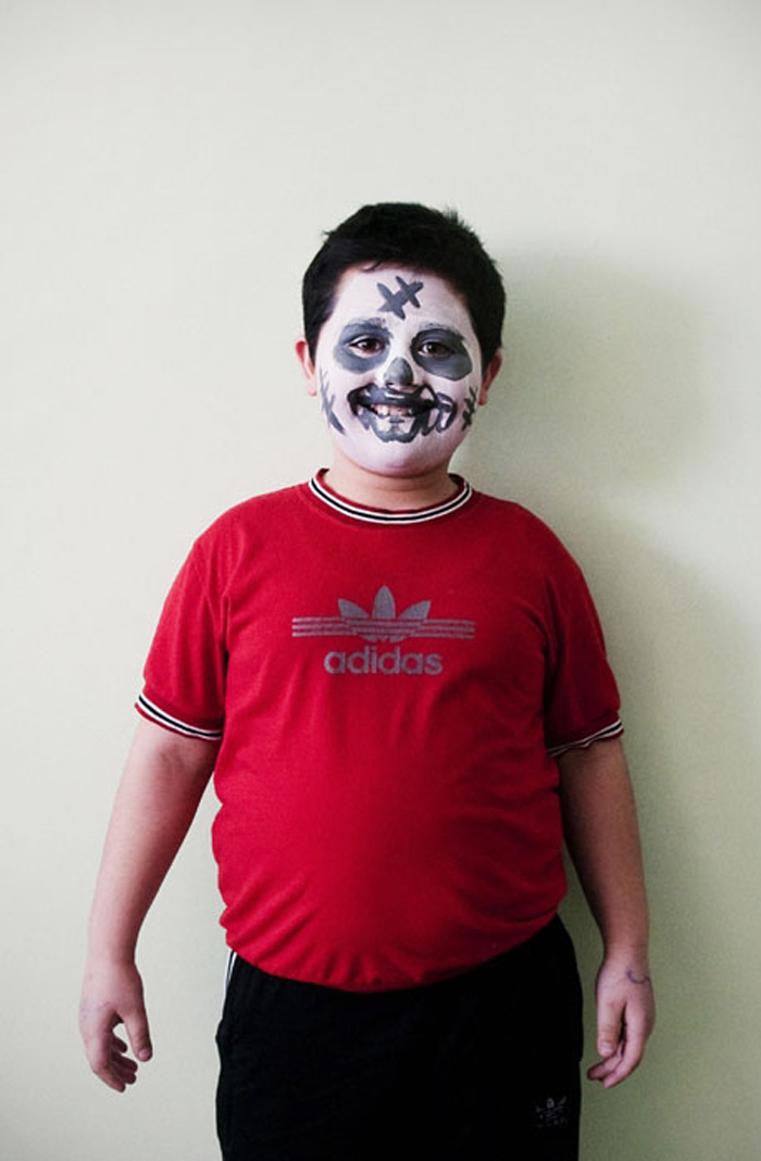 "Azamat Naifonov, 9:  ""My name is Azam. Why did I want to be a skeleton? Because he's terrible... and skinny."