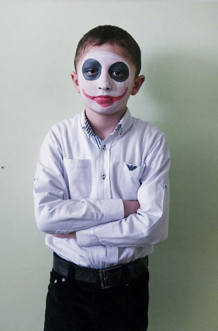 "David Chedzhemov, 11:  ""I'll be a joker... handsome."""