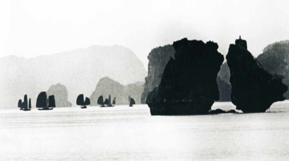 """Halong Bay, the eighth wonder of the world. Vietnam. 1955.Most of his wartime pictures only came to light during Khrushchev's """"thaw"""", while the famous """"Grief"""", which brought him world renown, was first printed in the USSR in 1975, thirty years after it was taken."""
