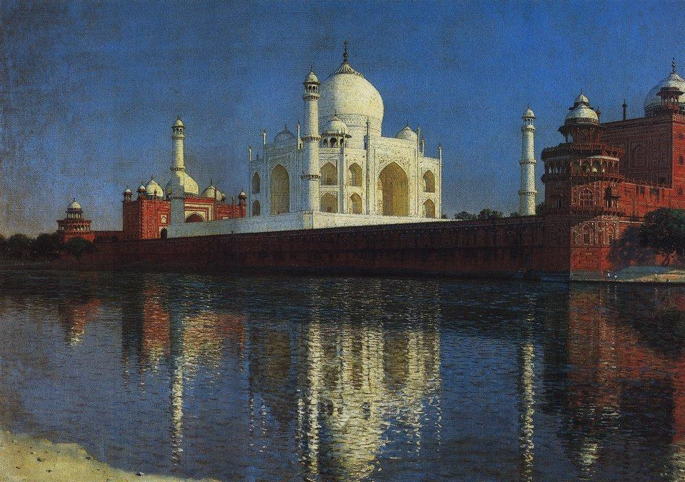 Taj Mahal, Agra, 1874.