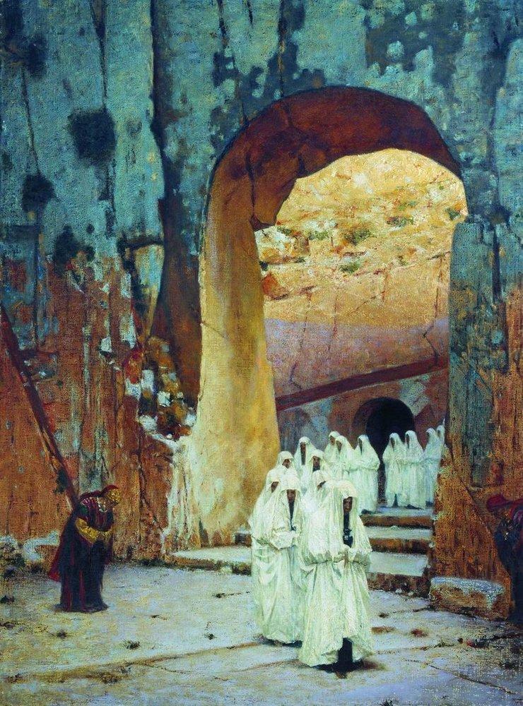 Santuários em Jerusalém, 1870.