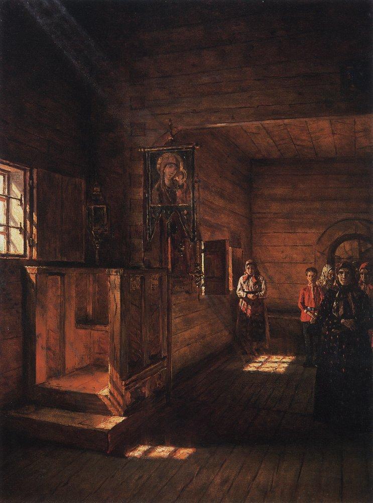 Interior da igreja S. João, o Divino, em Rostov Iaroslavski, 1888.