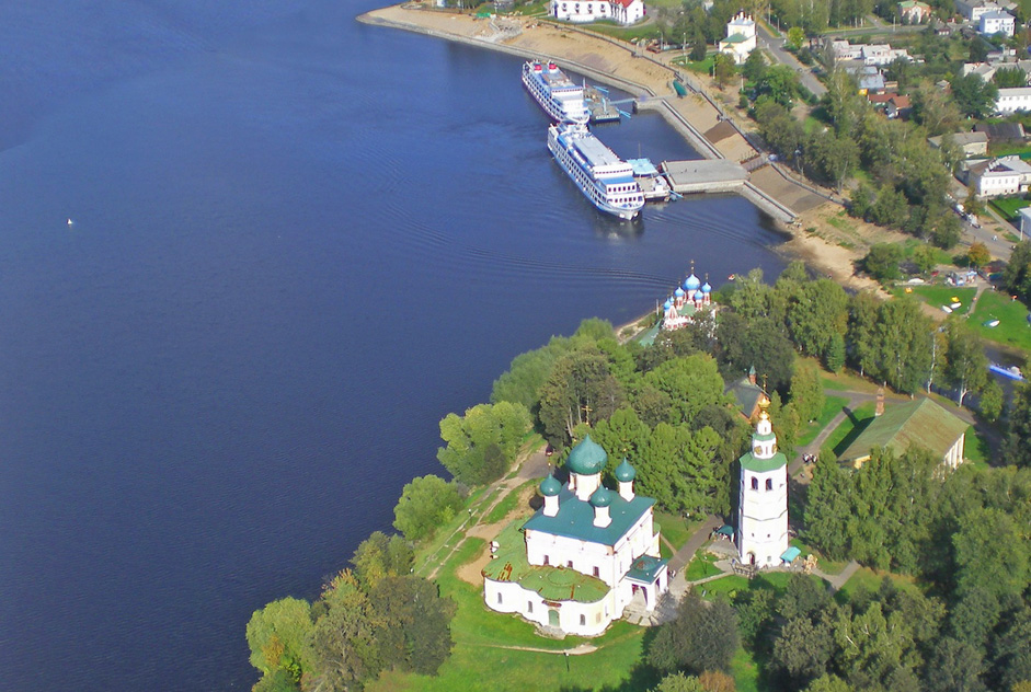 "Uglich. The Kremlin, Yaroslavl Region // Uglich is a historic town on the Volga River in Yaroslavl Region, Russia. It was first documented in 1148. The town's name is thought to allude to the nearby turn (""ugl"" in Russian) in the Volga River."