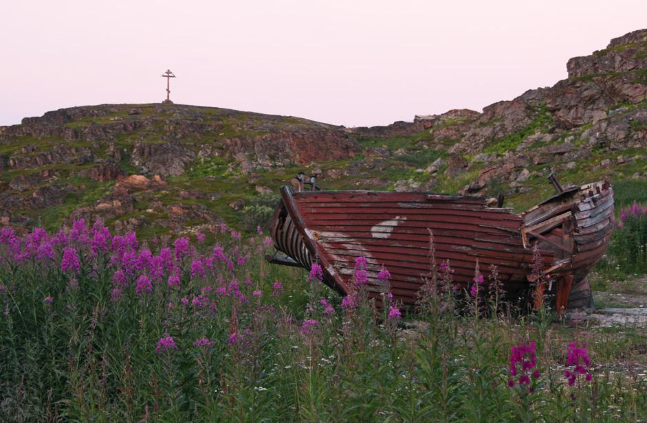La ville de Teriberka, située au bord de la mer de Barents, fut le dernier refuge de nombreux navires retirés du service.