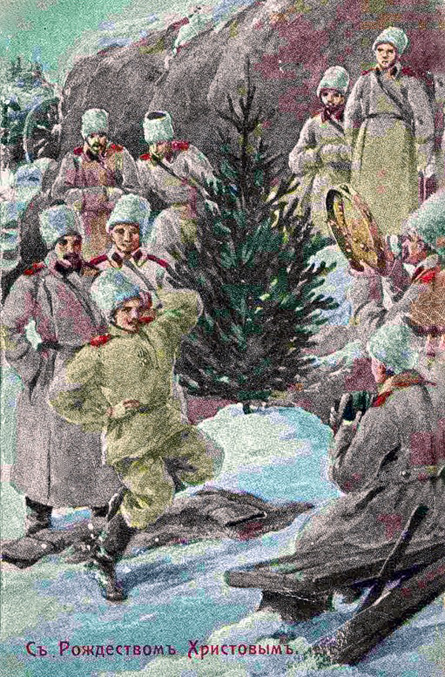 All the major events of the time were reflected on Christmas cards, including the First World War.