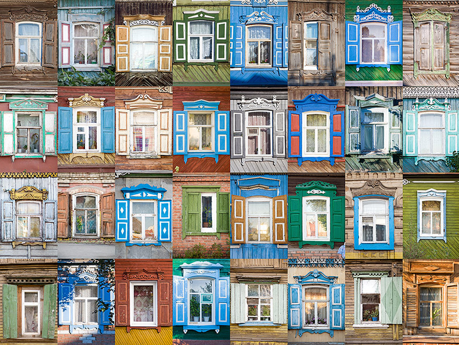 Photographer Ivan Hafizov has thousands of photos of various window casings. They came from 20 Russian regions. Ivan started his collection with the windows of ENGELS, Saratov region, a few years ago. A window casing is the trim molding that encases a window. It originates from the windowsill and wraps up and around the window.
