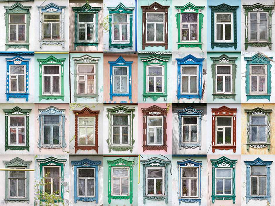 Casings were the most popular in the Volga region - in Kostroma, Vladimir, Yaroslavl and Nizhny Novgorod regions. MIKHAILOV's windows are colorful, but their colors are unusual - green, blue, burgundy.
