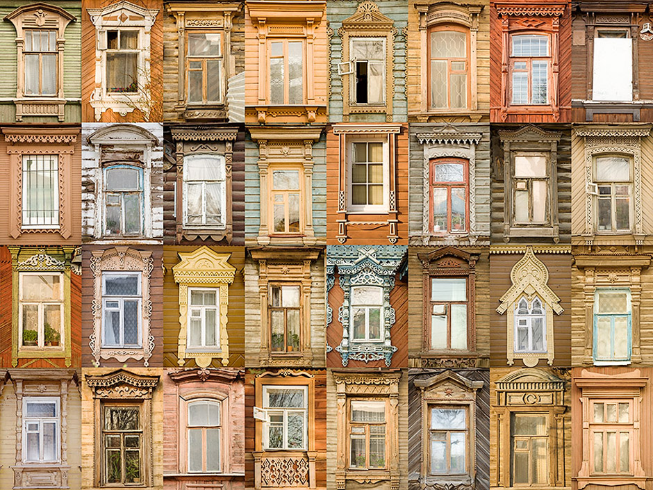 No one can define when the tradition of decorating the window emerged. Probably it started in the pagan times when casings were like talismans, designed to protect the inhabitants of the house from evil spirits. As you can see, in RYAZAN all the casings are made in the same color scheme: from reddish to sandy, from terracotta to orange.