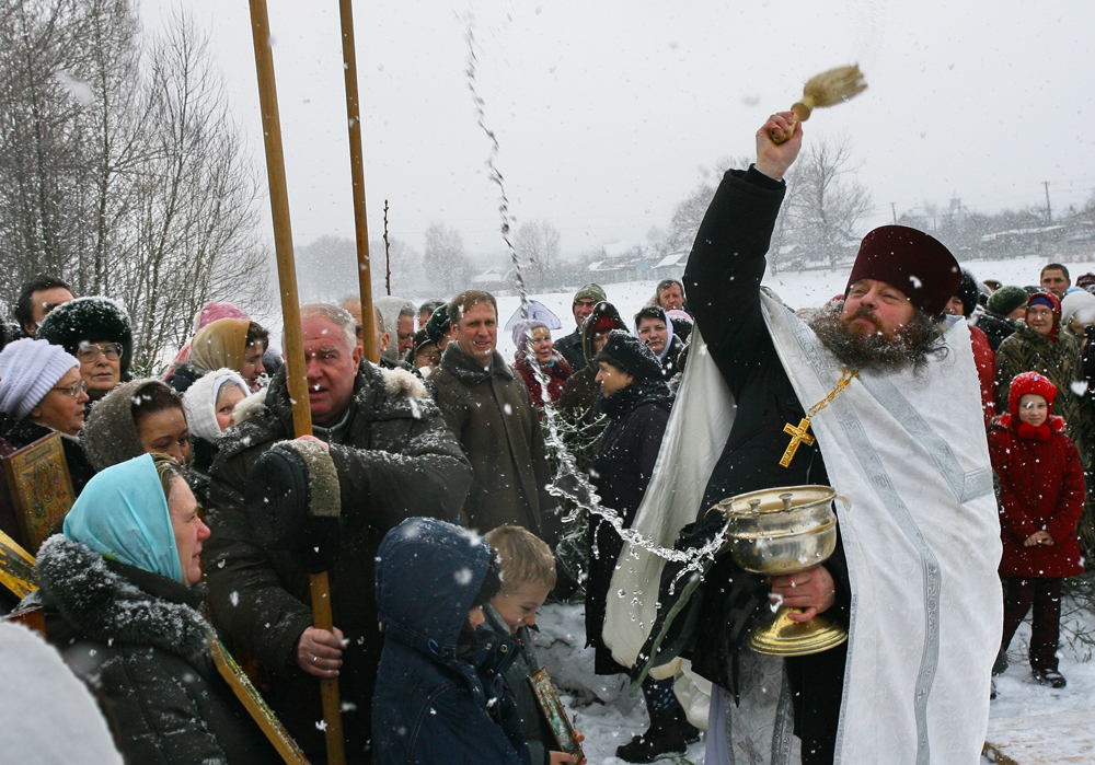 The Baptism of Christ, also known as the Epiphany, is one of the 12 main Orthodox festivals, and it is traditionally celebrated on Jan. 19. (Moskovskaya oblast, Russia)