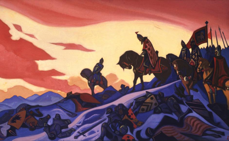 Слугинката со црвена мантија, 1940 год. // Додека Јуриј Рерих главно работеше на философија и етнографија, Светослав Рерих ги искажуваше своите уметнички вештини сликајќи портрети кои претставуваат ремек-дела во овој жанр. Влијанието на неговиот татко се проткајува во творештвото на уметникот. Тој живеел во Индија од 1931 година, а таму Светослав зел и активно учество во општествениот и културен живот на земјата. Светослав Рерих почина на 30 јануари 1993 година, пред дваесет години. Тој не остави потомство.