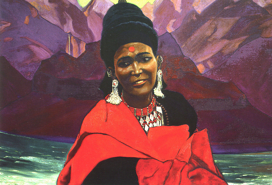 Maid in a Red Mantle, 1940s // While the Yuri Roerikh were mostly working on philosophy and ethnography, Svetoslav Roerich honed his artistic skills as a portraitist, truly mastering the genre. The influence of his father pervades the artist's work. Permanently resident in India from 1931, Svetoslav took an active part in the social and cultural life of the country. Svetoslav Roerich passed away on January 30, 1993, twenty years ago. They did not left any descendants.