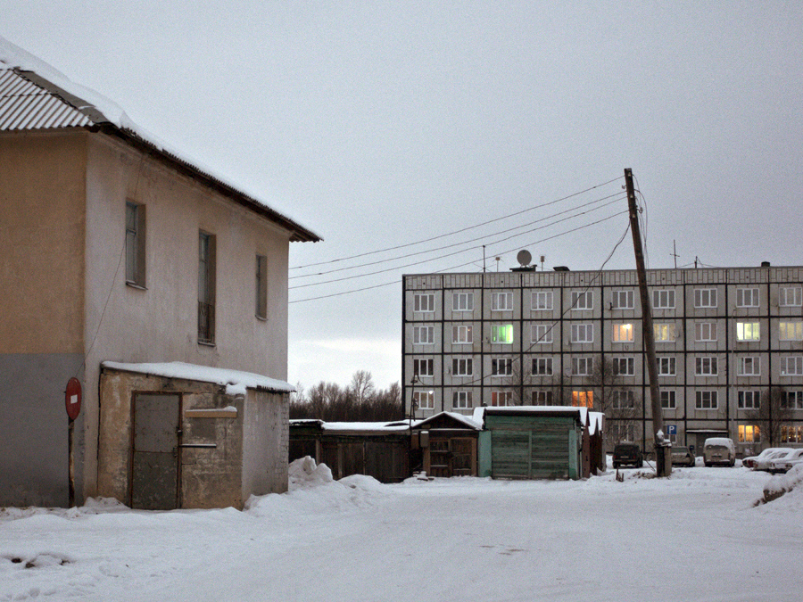 The usual scenario: the incipient death of towns which were born during Soviet central planning, grandiloquent building projects or the Soviet electrification scheme.