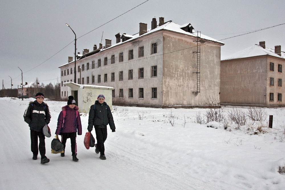 The low temperatures haven't just preserved the village – but time itself, frozen in the era of its Soviet relics.