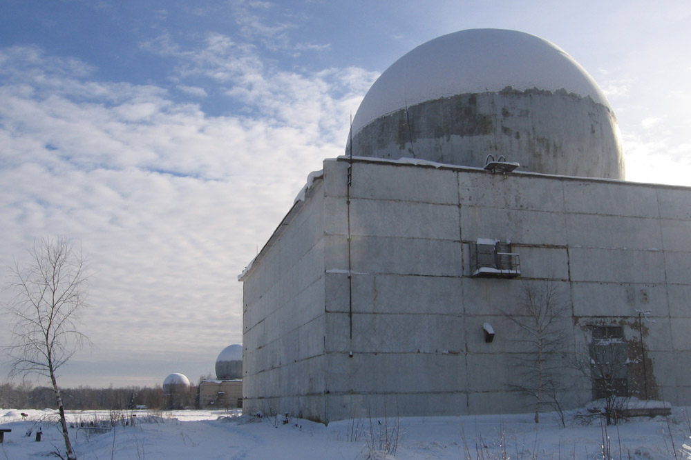 These balls housed radars designed to protect Moscow from enemy missiles. Some of them are abandoned, while others are now the site of small machine-building or wood-sawing plants, etc.