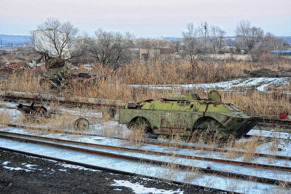 Armored vehicles sometimes languish here for years, but their fate is known. It is only a matter of time before they are dissected with oxygen cutters. Where the metal goes, no one knows.