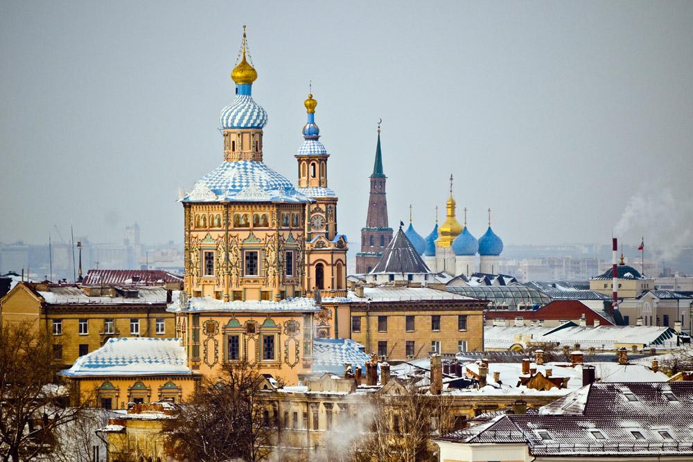 Kasan liegt am Zusammenfluss von Wolga und Kasanka im europäischen Teil Russlands.