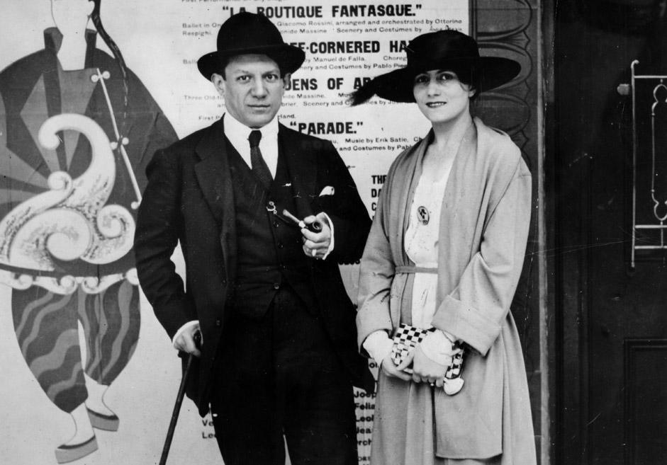 Pablo Picasso y Olga Jojlóva.