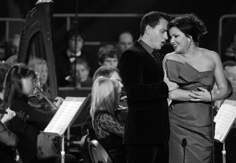 "Erwin Schrott & Anna Netrebko // Anna is a Russian operatic soprano. Netrebko was born in Krasnodar in a family of Kuban Cossack background. She was identified by the journal Musical America as ""a genuine superstar for the 21st century"" and was named 'Musician of the Year' for 2008. In 2008 Netrebko announced that she and her fiancé, Uruguayan baritone Erwin Schrott, had married, but their wedding has actually never taken place. But who cares if they are in love?"