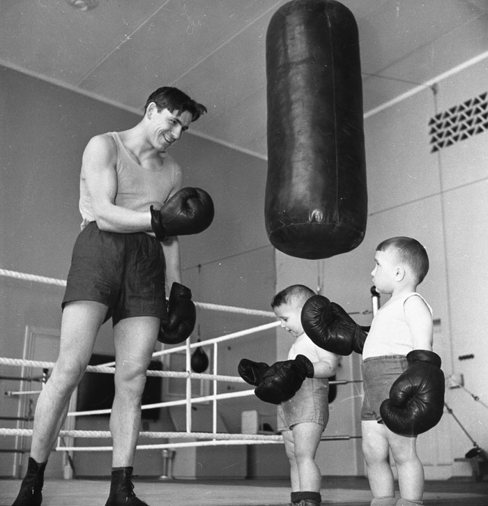 Young boxers. 1960s // To find the key point, the core among  tremendous variety of occurrences – that is what the genuine mastership is.
