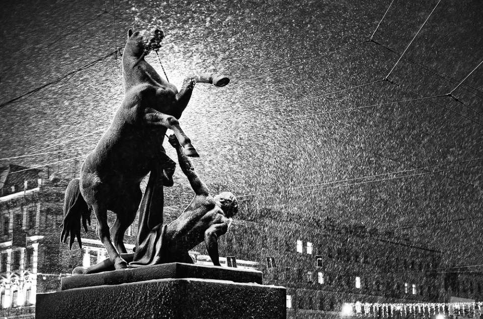 """The snowfall"", Saint-Petersburg"