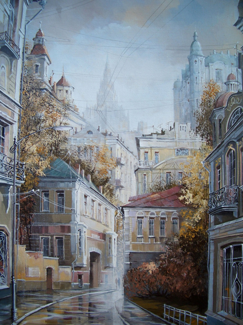 Paintings of Alexander Starodubov are very popular among Russian wealthy persons. They buy his works for about 3,500 USD a piece.