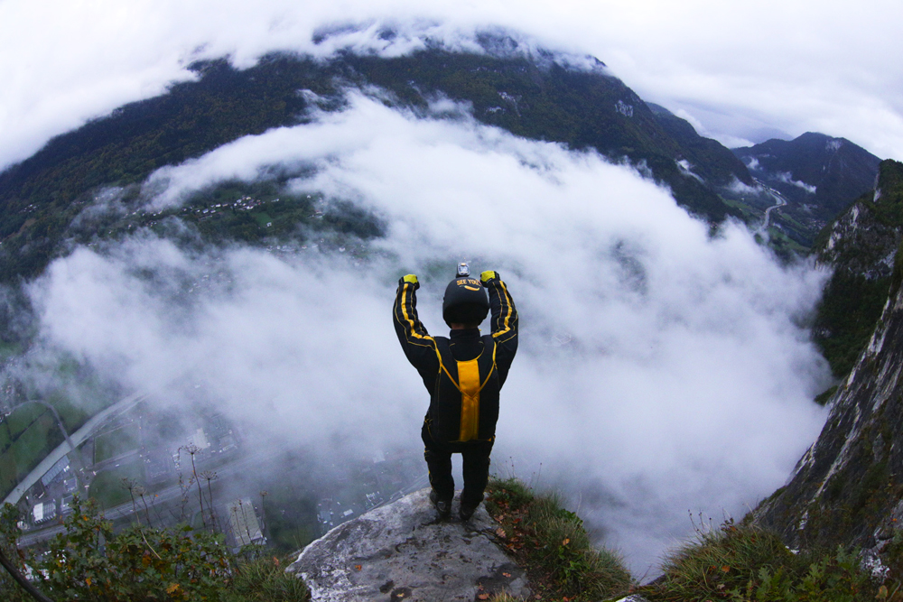 Extreme sports like base jumping are all about the adrenaline rush, and nothing gets the adrenal gland producing more. But let's hope for the better!
