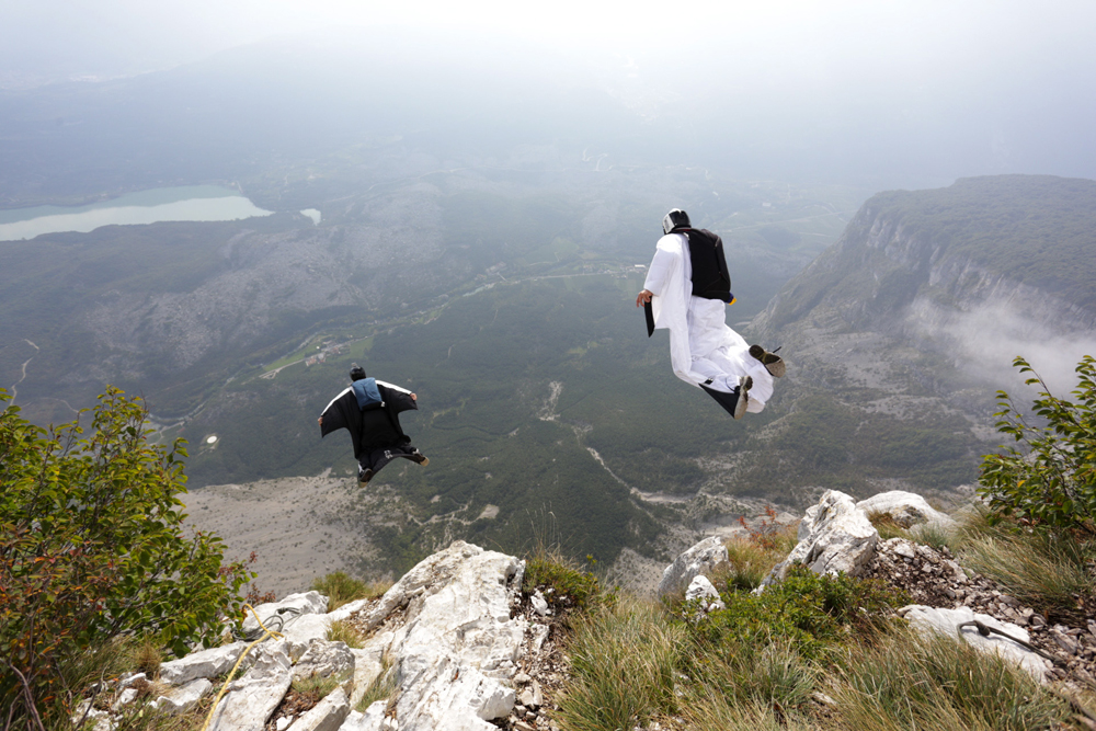 BASE jumping has an overall fatality rate estimated at about one fatality per sixty participants. It has the highest risk of injury and death and so is the most dangerous of identified global recreational activities, with a rate 43 times higher than parachuting from a plane.