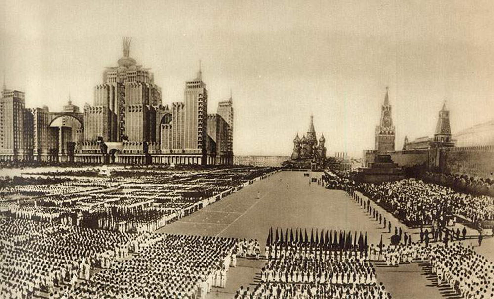 Behold what Moscow could have been if the projects of Stalin's architects had been realized.